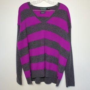 Ralph Lauren cashmere pullover sweater XL Striped